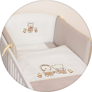 Постельное белье Ceba Baby 3 пр. Ducklings brown вышивка W-806-050-230