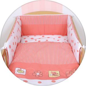 Постельное белье Ceba Baby 3 пр. Peas coral Lux принт W-800-045-136-1