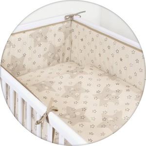 Постельное белье Ceba Baby 3 пр. Stars beige Lux принт W-800-066-111-1