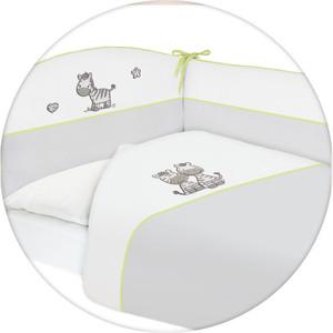 Постельное белье Ceba Baby 3 пр. Zebra grey вышивка W-801-002-260 одеяло конверт ceba baby zebra grey вышивка w 810 002 260