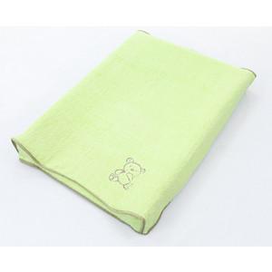 Простынь на резинке Ceba Baby на пеленальный матрасик 50x70 см Little Zoo green W-820-015-150