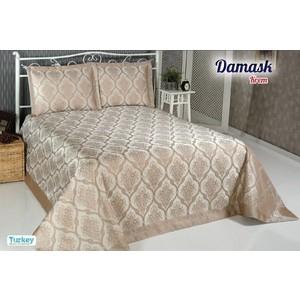 Покрывало Do and Co Damask 240х260 + 2 наволочки 50х70 бежевый (8998)