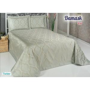 Покрывало Do and Co Damask 240х260 + 2 наволочки 50х70 зелёный (8998)