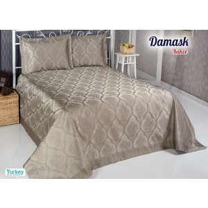 Покрывало Do and Co Damask 240х260 + 2 наволочки 50х70 коричневый (8998)