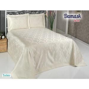 Покрывало Do and Co Damask 240х260 + 2 наволочки 50х70 кремовый (8998)