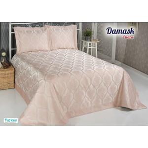 Покрывало Do and Co Damask 240х260 + 2 наволочки 50х70 пудра (8998)