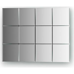 Зеркальная плитка Evoform Refractive с фацетом 5 мм, 10 х 10 см, комплект 12 шт. (BY 1422)