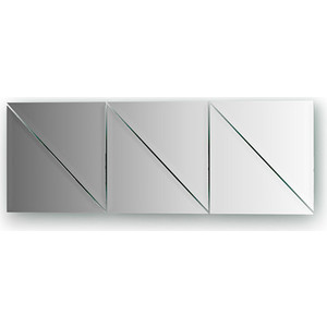 Зеркальная плитка Evoform Reflective с фацетом 10 мм, 20 х 20 см, комплект 6 шт. (BY 1515)