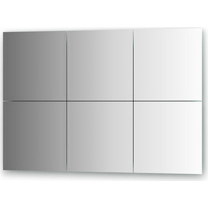 Зеркальная плитка Evoform Reflective с фацетом 15 мм, 30 х 30 см, комплект 6 шт. (BY 1531)