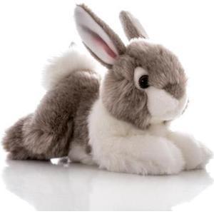 Игрушка мягкая Aurora Кролик серый 28 см