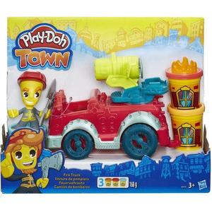 Игровой набор Hasbro Play-Doh Город Пожарная машина (B3416) hasbro play doh игровой набор из 3 цветов цвета в ассортименте с 2 лет