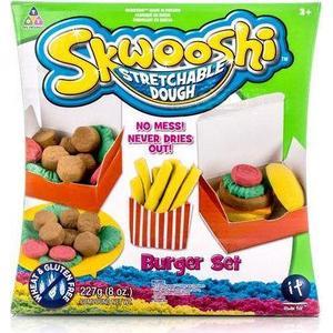 Набор для творчества Skwooshi Бургер - масса для лепки и аксессуары (S30021) skwooshi набор для лепки с аксессуарами бургер