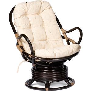 Кресло вращающееся TetChair Flores 5005 с подушкой, Античный коричневый