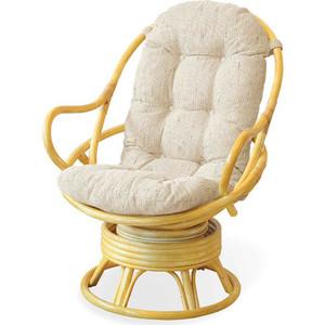 Кресло вращающееся TetChair Flores 5005 с подушкой, мёд (honey)