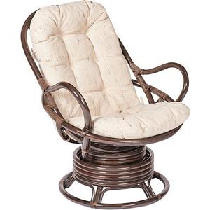 Кресло вращающееся TetChair Flores 5005 с подушкой, орех (walnut)