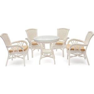 Комплект TetChair Andrea TCH White ( стол + 4 кресла )