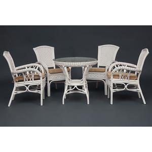 Комплект TetChair Andrea TCH White ( стол + 4 кресла ) от ТЕХПОРТ