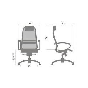 Кресло Метта Samurai K-1 № темно-бордовый