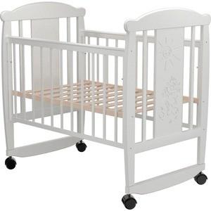 Кроватка Valle Cat 02 колесо-качалка без ящика венге-слоновая кость детские кроватки valle giraffe 02 колесо качалка