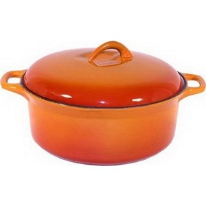 Кастрюля чугунная эмалированная 3.0 л Myron cook Tradition (HE5103E/MC5033) сковорода гриль myron cook tradition he83 mc7236
