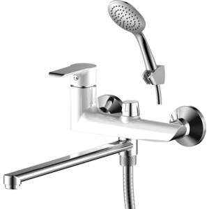 Смеситель для ванны Rossinka W с поворотным изливом (W35-32) смеситель для ванны vidima уно с прямоугольным поворотным изливом с душевым гарнитуром ba320aa