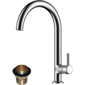 Смеситель для кухни Rossinka X с поворотным изливом (X25-23U) смеситель для кухни vidima уно с литым поворотным изливом ba241aa