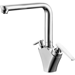 Смеситель Elghansa Kitchen для кухни, хром (56A5981) chrome finish brass kitchen sink faucet two spouts spring kitchen mixer tap 2 spouts kitchen water tap