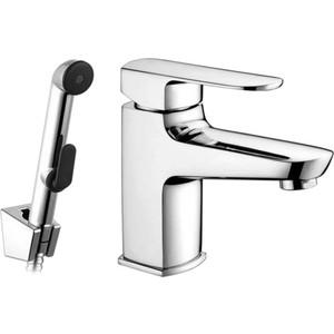 Смеситель Elghansa Scarlett для раковины с гигиеническим душем, хром (16G2225) смеситель с душем недорого купить