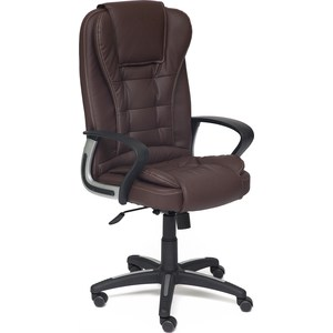 Кресло TetChair BARON кож/зам коричневый/коричневый перфорированный 36-36/36-36/06 кресло tetchair сн767 кож зам коричневый 36 36