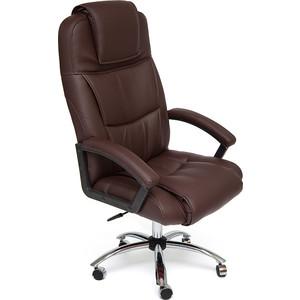 Кресло TetChair BERGAMO (хром) кож/зам коричневый 36-36 кресло tetchair сн767 кож зам коричневый 36 36
