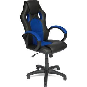 цена на Кресло TetChair RACER GT кож/зам/ткань черный/синий 36-6/10