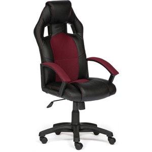 Кресло TetChair DRIVER кож/зам/ткань черный/бордо 36-6/13
