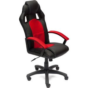 цена на Кресло TetChair DRIVER кож/зам/ткань черный/красный 36-6/08