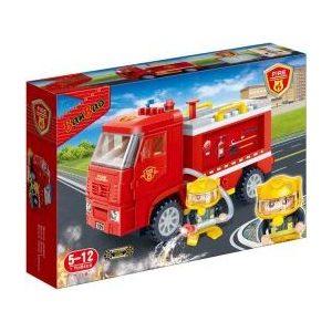 Конструктор Banbao Пожарная машина инерц. 126 деталей 28.2х19х5.6 см (7116)