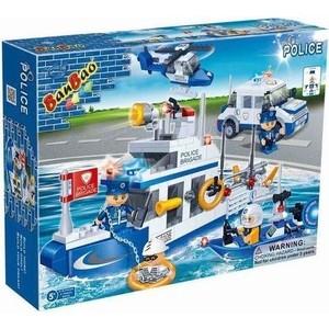 Конструктор Banbao Полицейская команда-катер джип лодка вертолет 418 деталей (8342) футболка rip curl rip curl ri027ewswz94