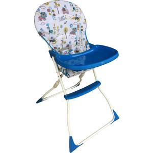 Стульчик для кормления BabyHit Bonbon бело-голубой стульчик для кормления babyhit miracle цвет голубой