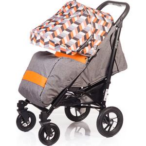 Коляска прогулочная BabyHit Drive серо-оранжевая