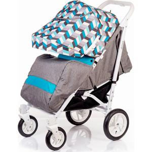 Коляска прогулочная BabyHit Drive серо-голубая