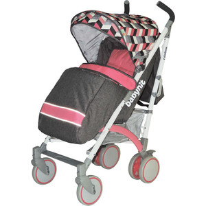 Коляска трость BabyHit Rainbow розовый с серым