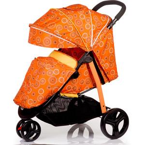 Kоляска прогулочная Baby Hit Trinity оранжевая с кругами