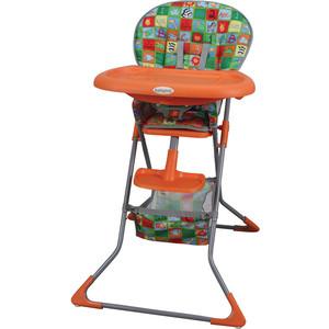 Стульчик для кормления BabyHit Tasty Time оранжевый с животными