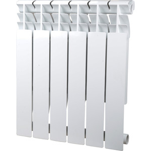 Радиатор отопления Sira алюминиевый литой Omega A 500 - 6 секций (CFOM05000680) радиатор отопления rommer optima 500 алюминиевый 8 секций