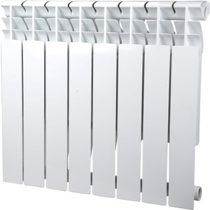 Радиатор отопления Sira алюминиевый литой Omega A 500 - 8 секций (CFOM05000880) алюминиевый радиатор sira rovall80 350 12 секций