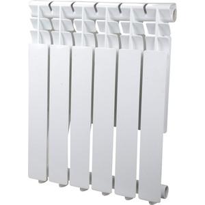 Радиатор отопления Sira алюминиевый литой Omega AS 500 - 6 секций (CFOM05000675) алюминиевый радиатор sira rovall80 350 8 секций