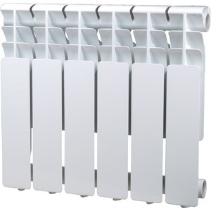 Радиатор отопления Sira алюминиевый литой Omega A 350 - 6 секций (CFOM03500680) алюминиевый радиатор sira rovall80 350 6 секций