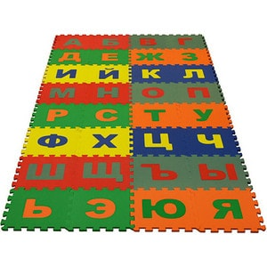 Мягкий пол Eco-cover развивающий Алфавит Русский 25х25 см 32 детали УТ000000443
