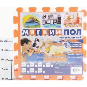 Мягкий пол Eco-cover универсальный 33х33 см оранжевый 9 деталей УТ000000467 пазл eco cover eco cover mp002xc0049a