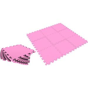 Фотография товара мягкий пол Eco-cover универсальный 33х33 см розовый 9 деталей УТ000000468 (578075)