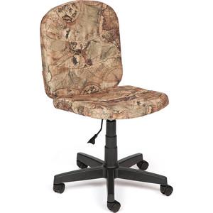 Кресло TetChair STEP ткань, карта на бежевом кресло tetchair step ткань ромашки на зеленом