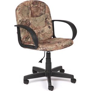 Кресло TetChair BAGGI ткань, карта на бежевом кресло компьютерное tetchair степ step доступные цвета обивки ткань карта на бежевом